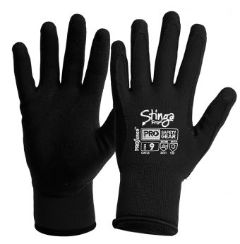 Water and oil repellent cold weather dipped work gloves critical for safe materials handling