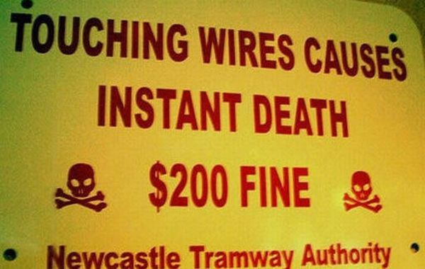 Something tells us that the fine is going to be less of a deterrent to touching those wires than the prospect of frying