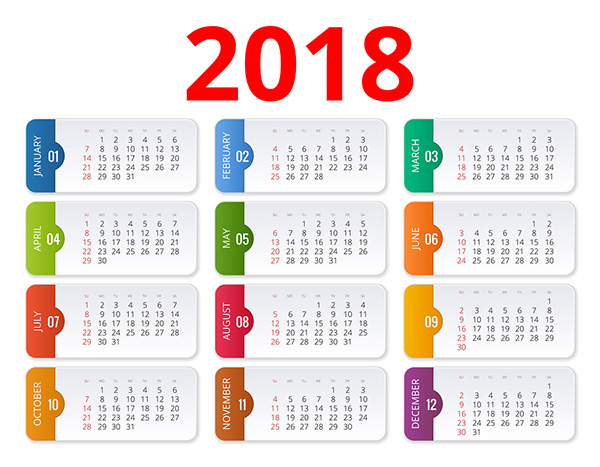 2018 OHS/WHS Safety & Events Calendar